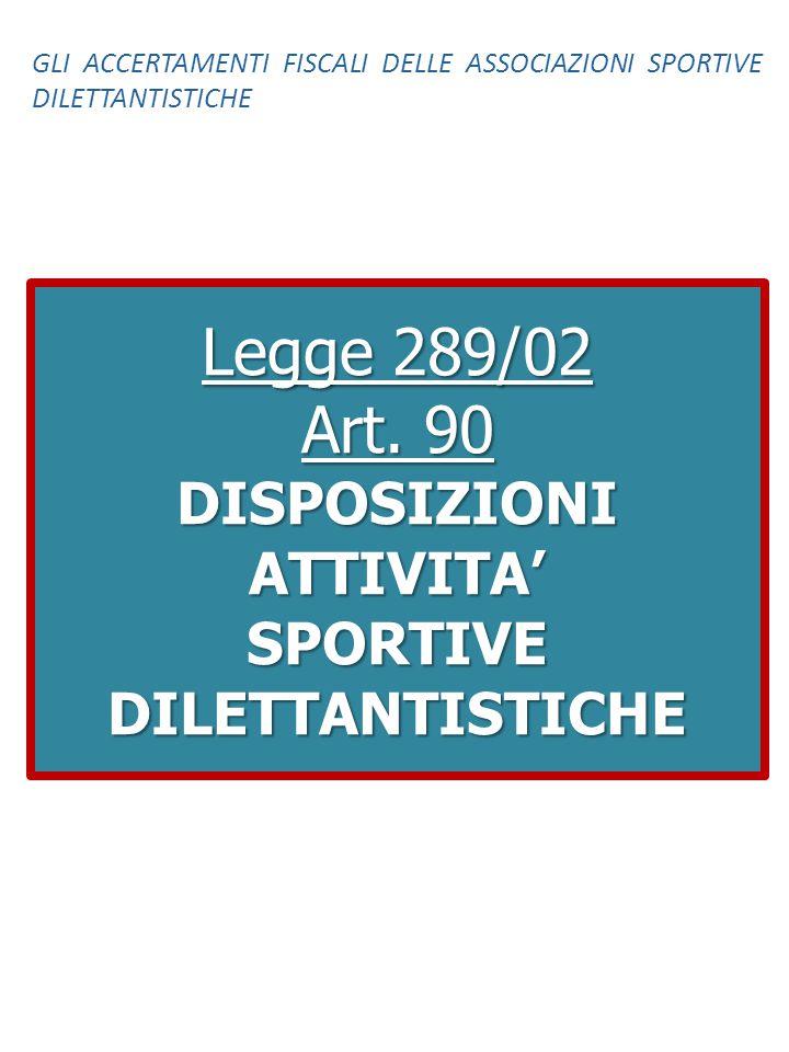 DISPOSIZIONI ATTIVITA' SPORTIVE DILETTANTISTICHE