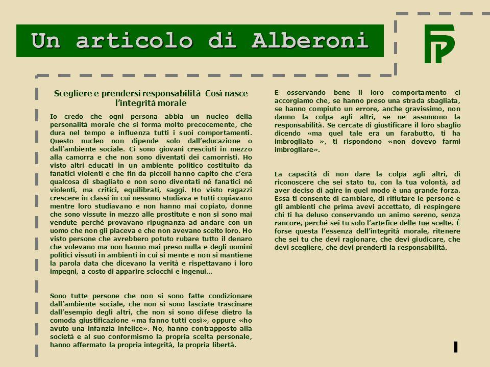 Un articolo di Alberoni