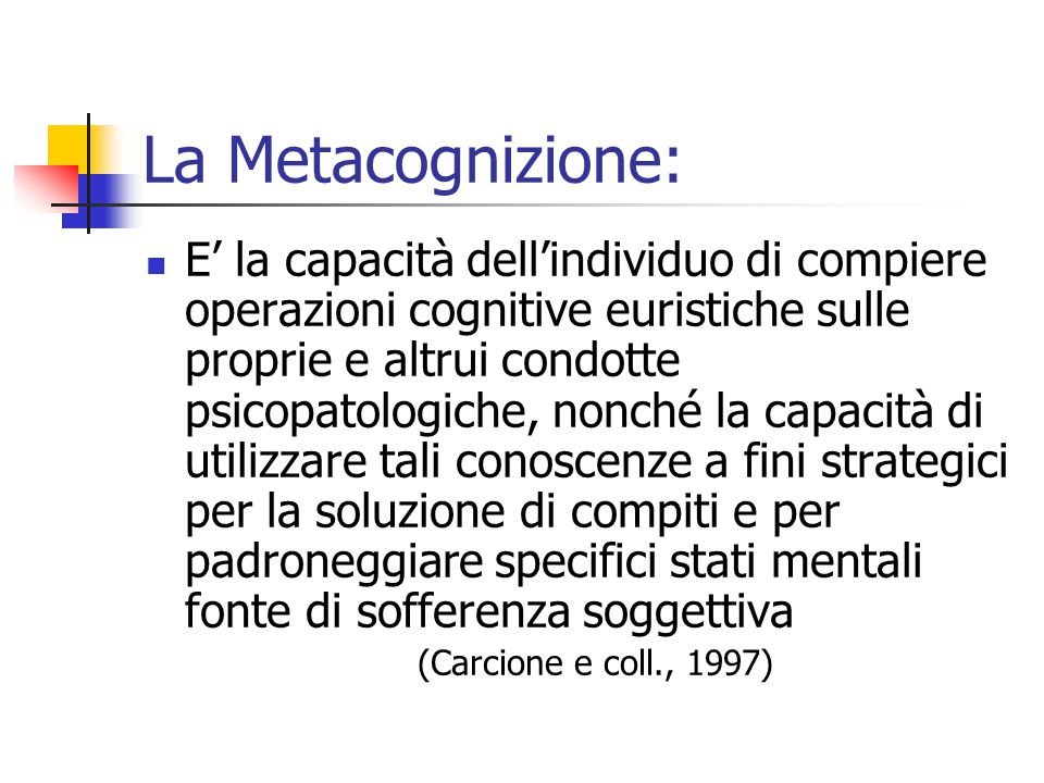 La Metacognizione: