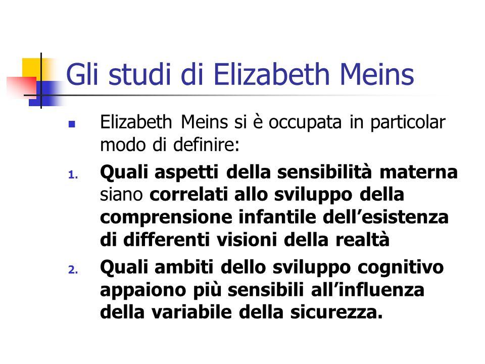 Gli studi di Elizabeth Meins