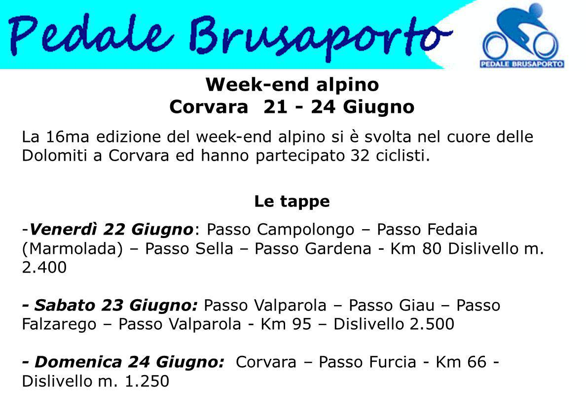 Week-end alpino Corvara 21 - 24 Giugno