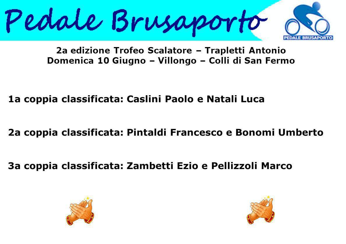 1a coppia classificata: Caslini Paolo e Natali Luca