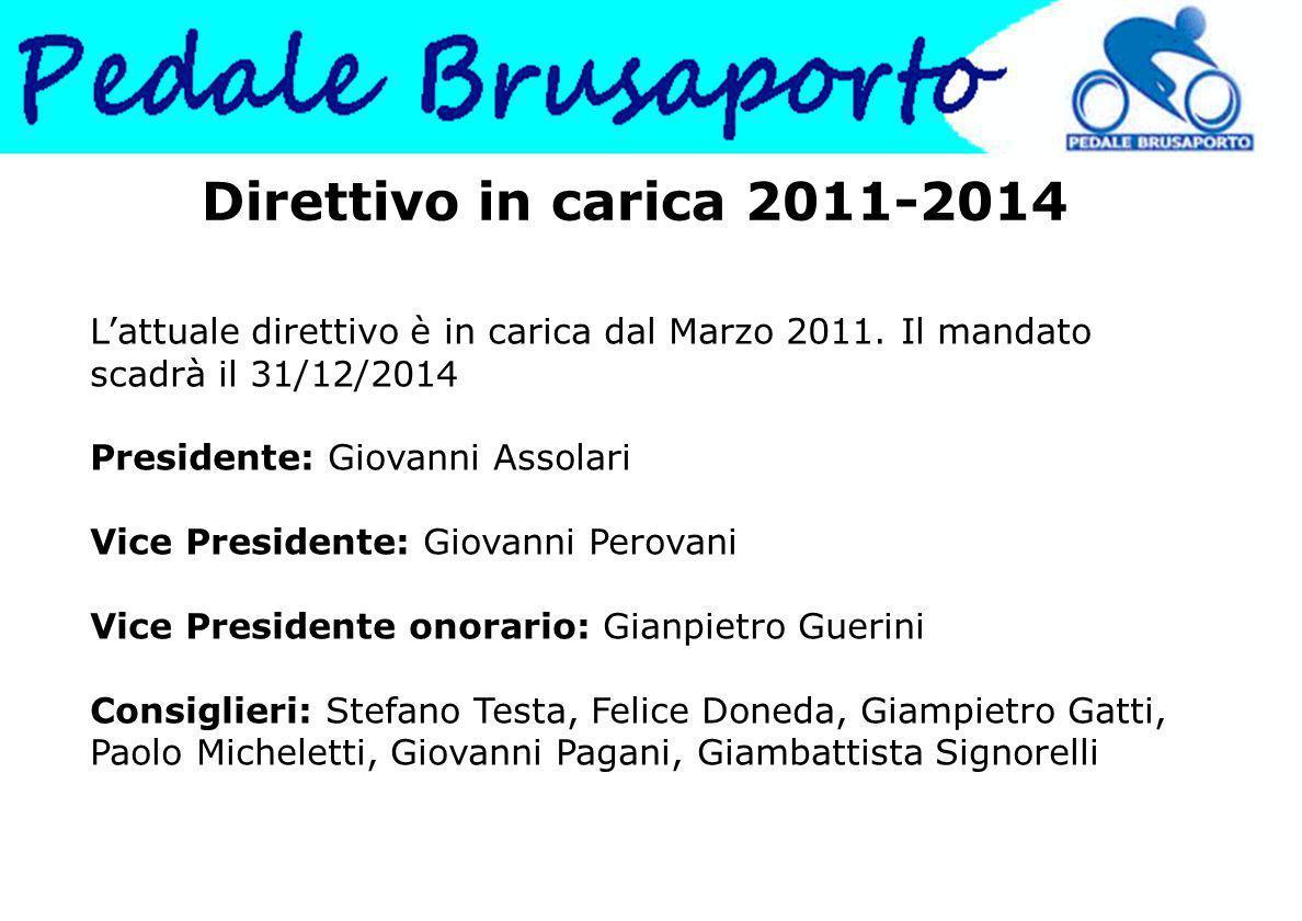 Direttivo in carica 2011-2014 L'attuale direttivo è in carica dal Marzo 2011. Il mandato scadrà il 31/12/2014 Presidente: Giovanni Assolari.