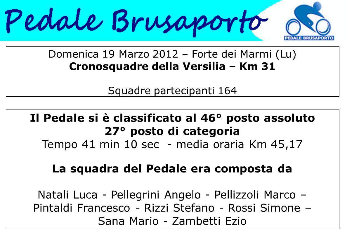 Domenica 19 Marzo 2012 – Forte dei Marmi (Lu) Cronosquadre della Versilia – Km 31