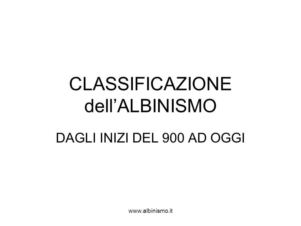 CLASSIFICAZIONE dell'ALBINISMO
