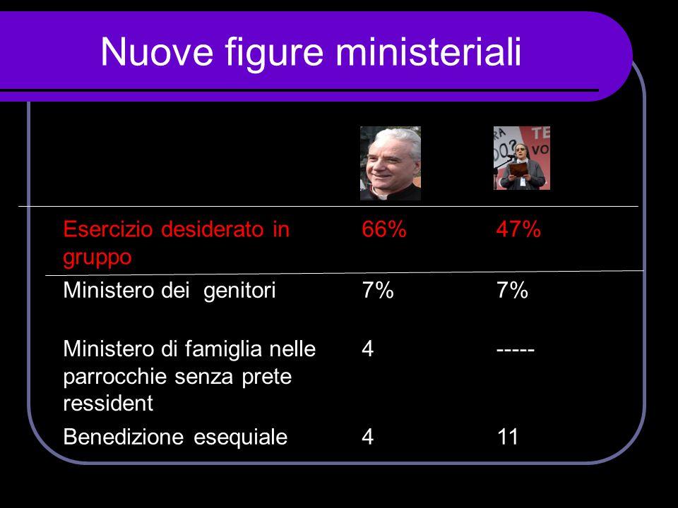 Nuove figure ministeriali