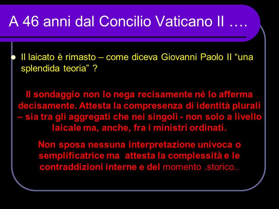 A 46 anni dal Concilio Vaticano II ….