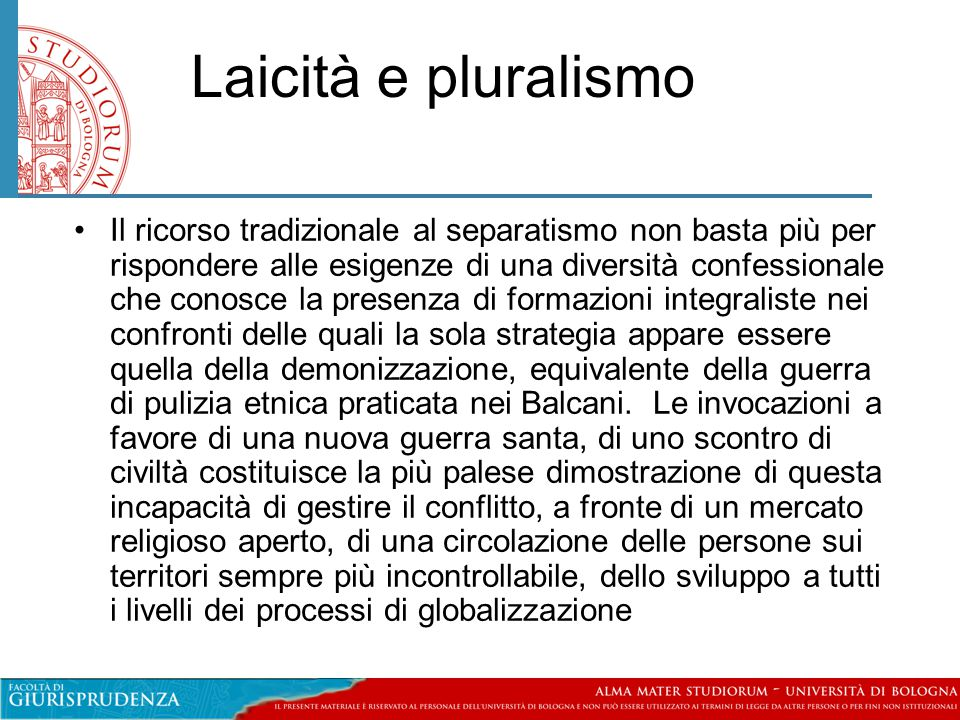 Laicità e pluralismo