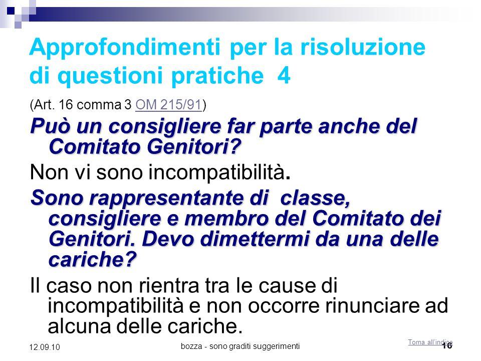 Approfondimenti per la risoluzione di questioni pratiche 4