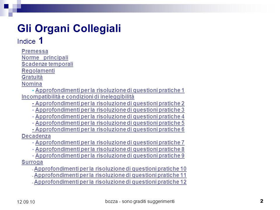 Gli Organi Collegiali Indice 1