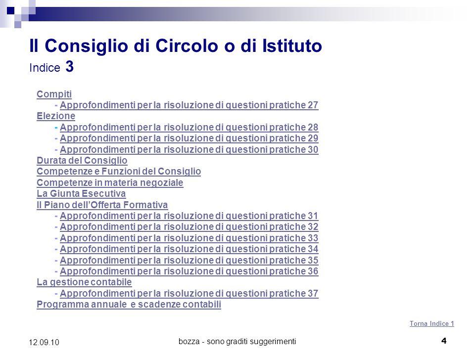 Il Consiglio di Circolo o di Istituto Indice 3