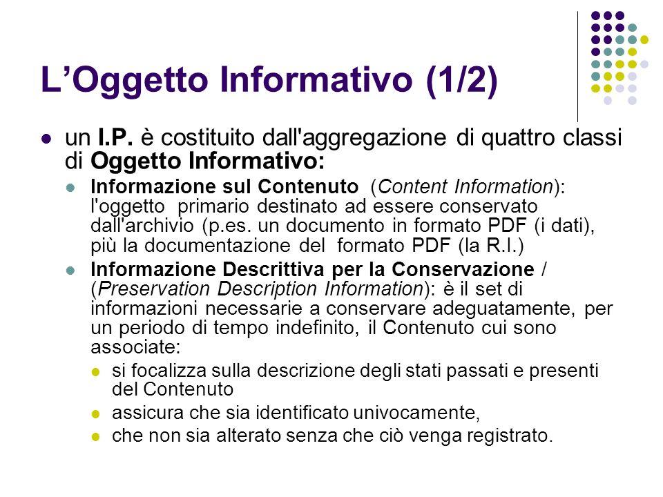 L'Oggetto Informativo (1/2)