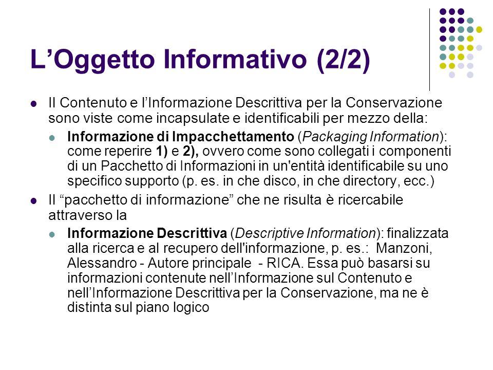 L'Oggetto Informativo (2/2)