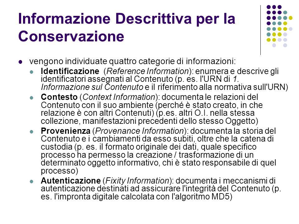 Informazione Descrittiva per la Conservazione