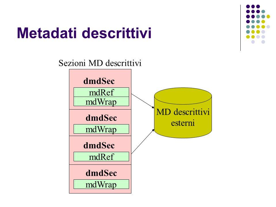 Sezioni MD descrittivi