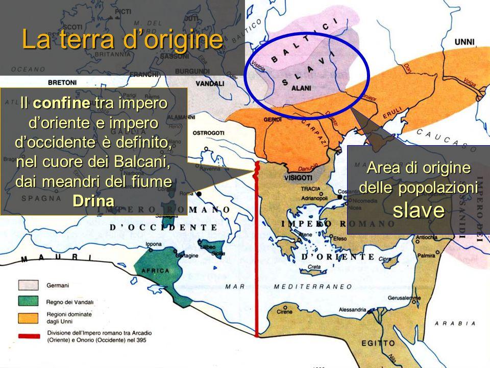 Area di origine delle popolazioni slave