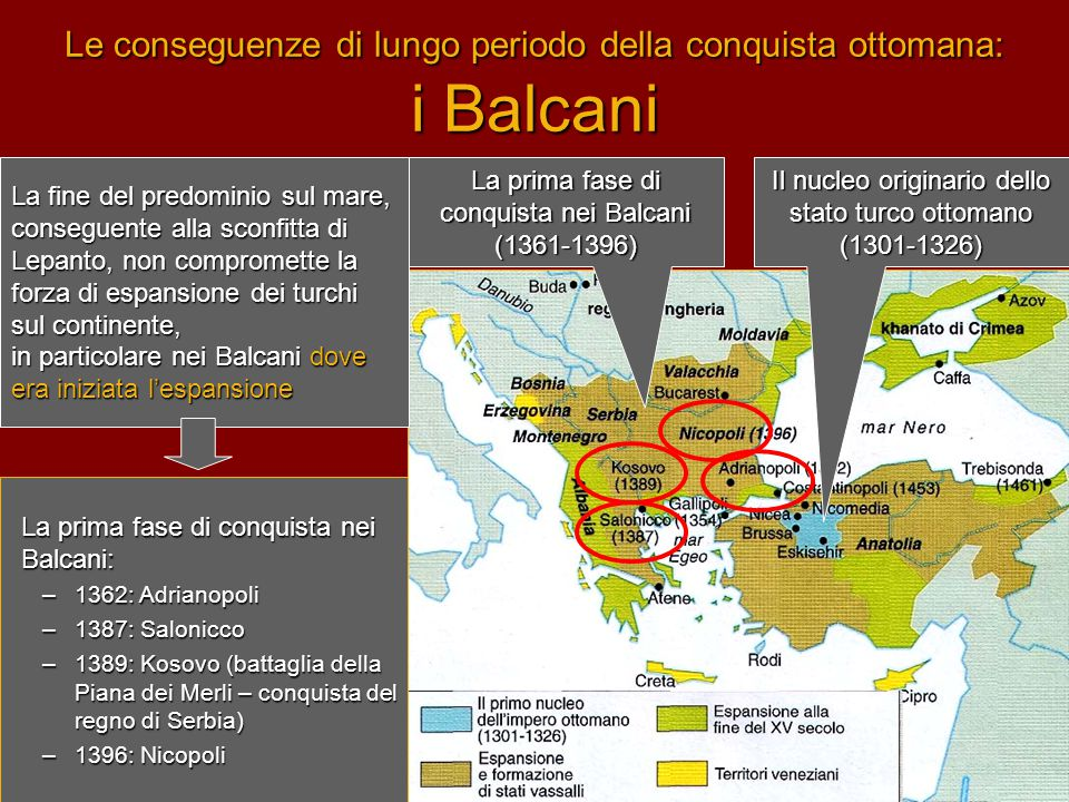 Le conseguenze di lungo periodo della conquista ottomana: i Balcani