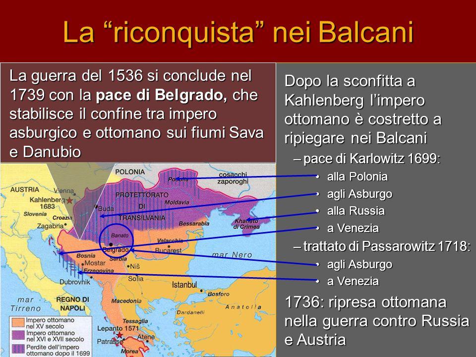 La riconquista nei Balcani