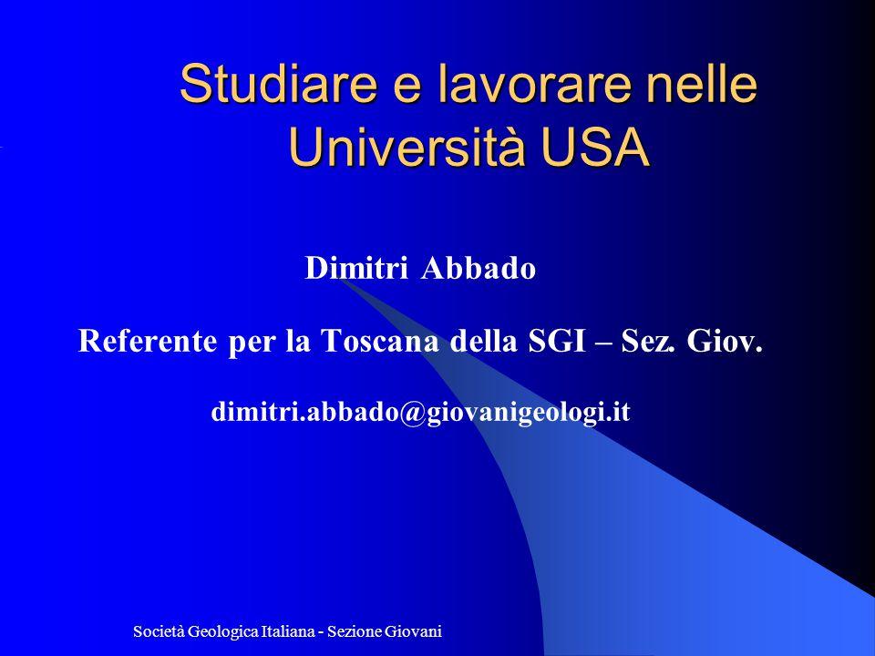 Studiare e lavorare nelle Università USA