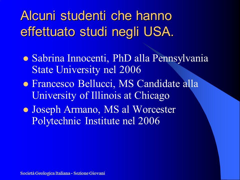 Alcuni studenti che hanno effettuato studi negli USA.
