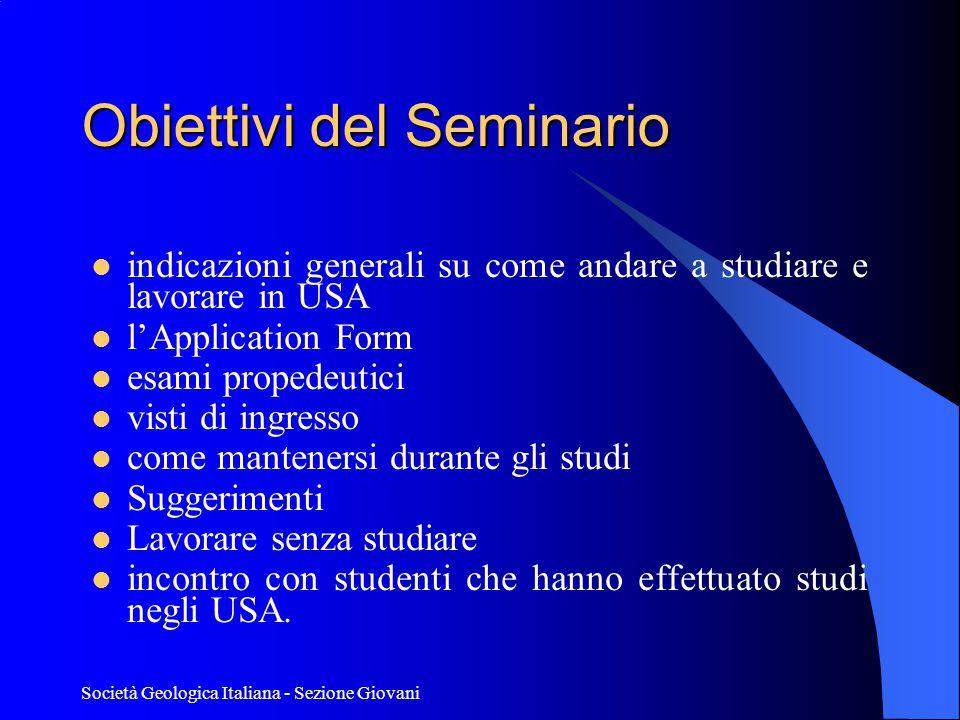 Obiettivi del Seminario