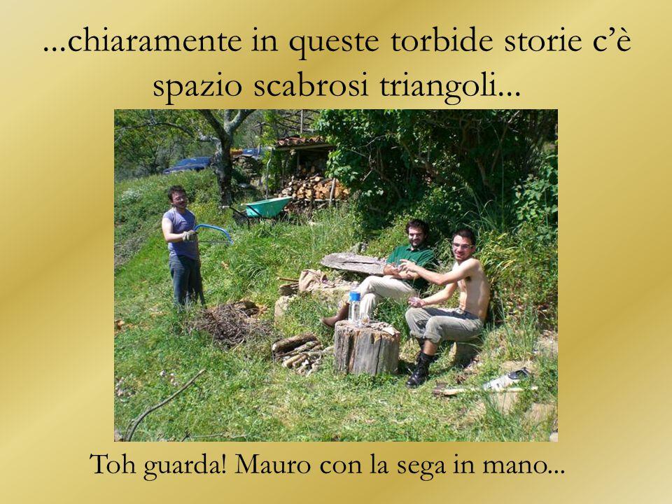 Toh guarda! Mauro con la sega in mano...