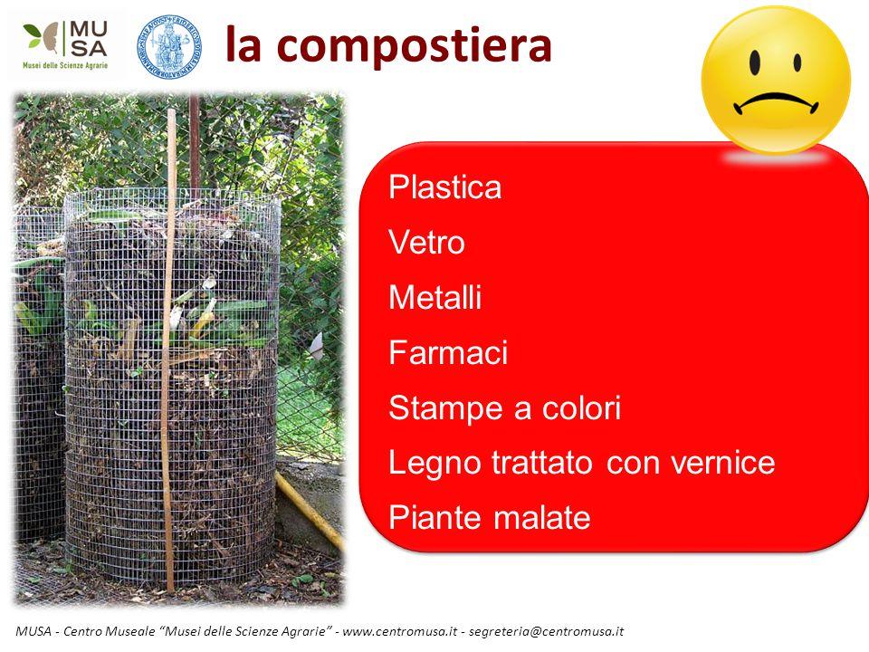 la compostiera Plastica Vetro Metalli Farmaci Stampe a colori