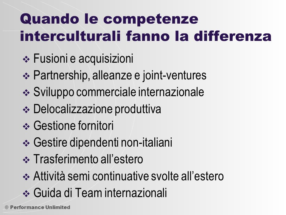 Quando le competenze interculturali fanno la differenza