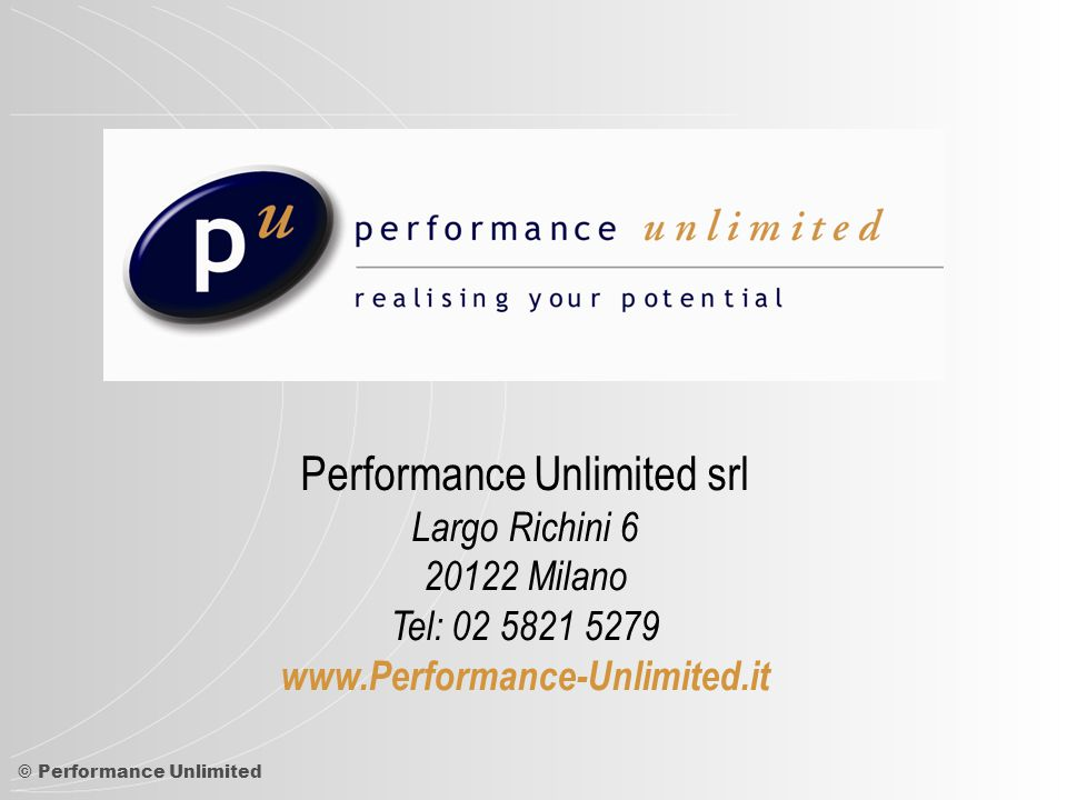 Performance Unlimited srl