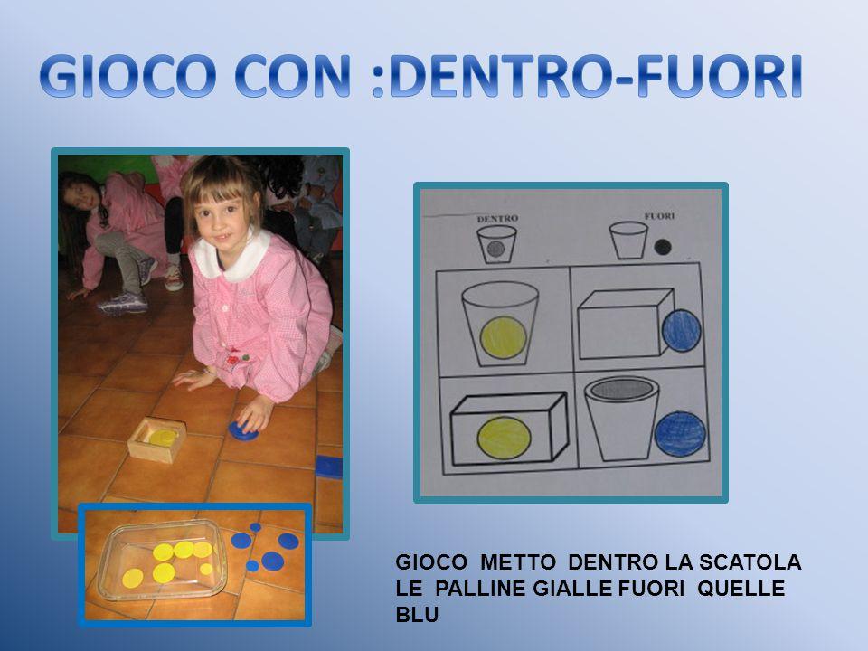 GIOCO CON :DENTRO-FUORI