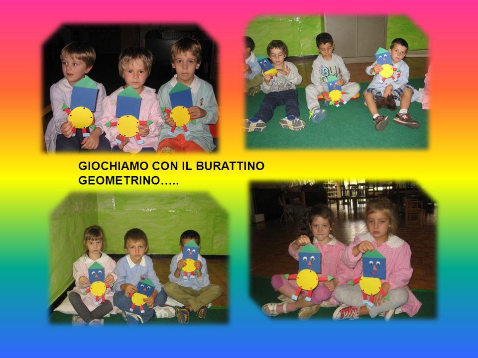 GIOCHIAMO CON IL BURATTINO GEOMETRINO…..