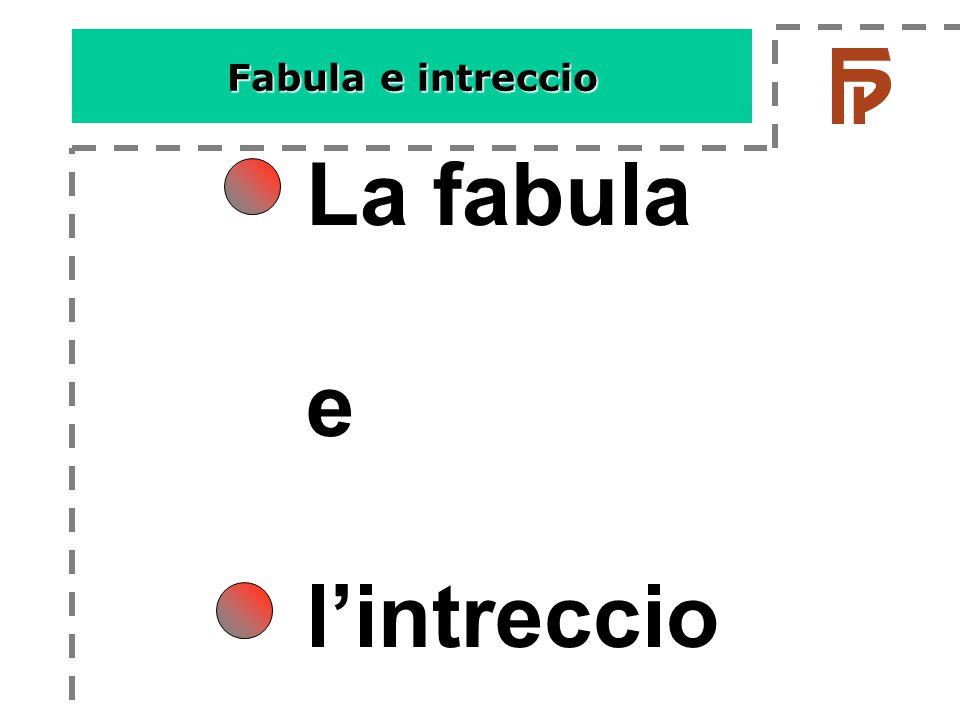 Fabula e intreccio La fabula e l'intreccio