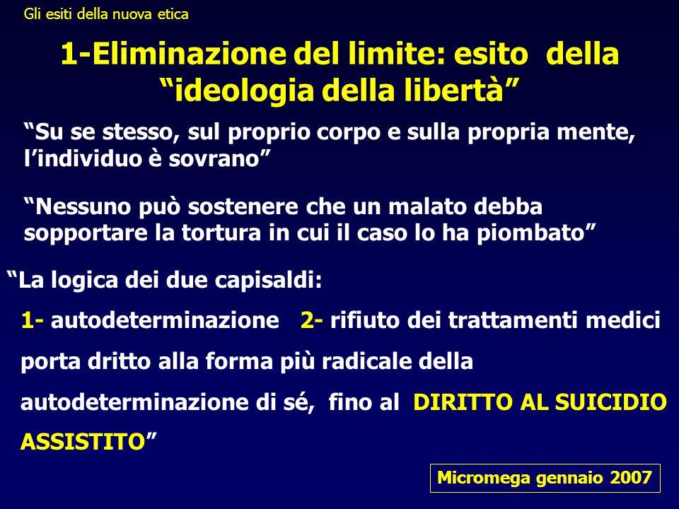 1-Eliminazione del limite: esito della ideologia della libertà