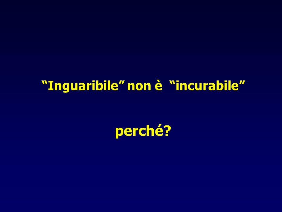 Inguaribile non è incurabile