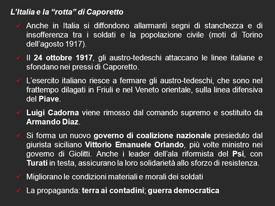 L'Italia e la rotta di Caporetto