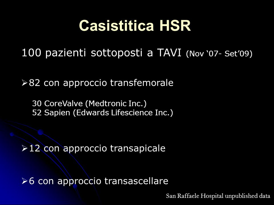 San Raffaele Hospital unpublished data