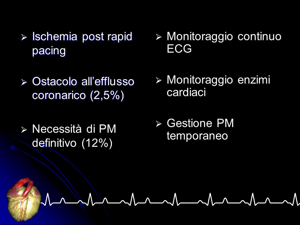 Monitoraggio continuo ECG