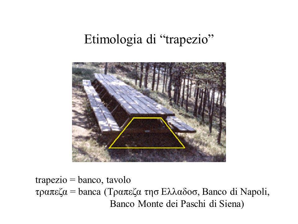 Etimologia di trapezio
