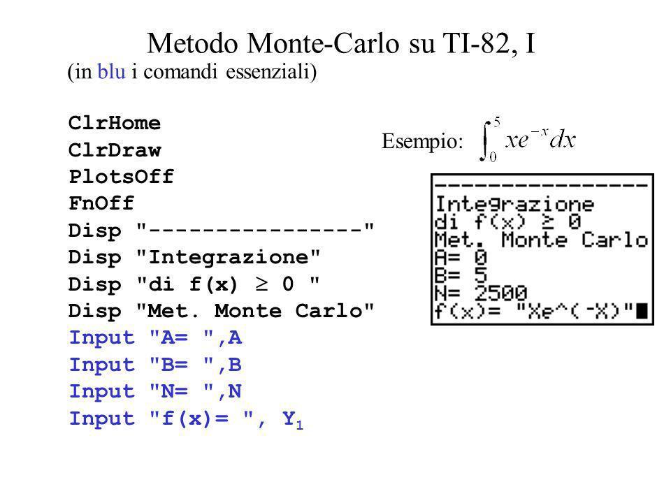 Metodo Monte-Carlo su TI-82, I