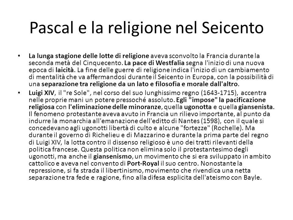 Pascal e la religione nel Seicento