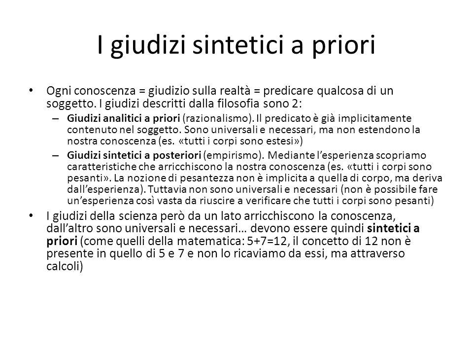I giudizi sintetici a priori