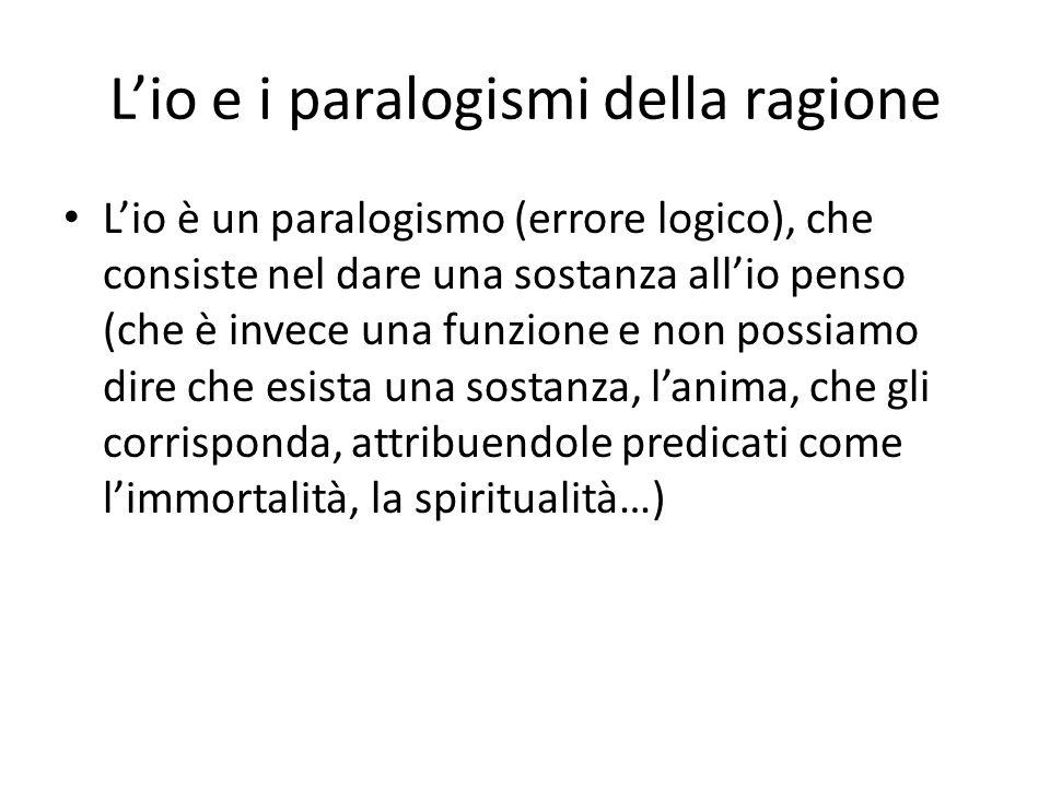 L'io e i paralogismi della ragione