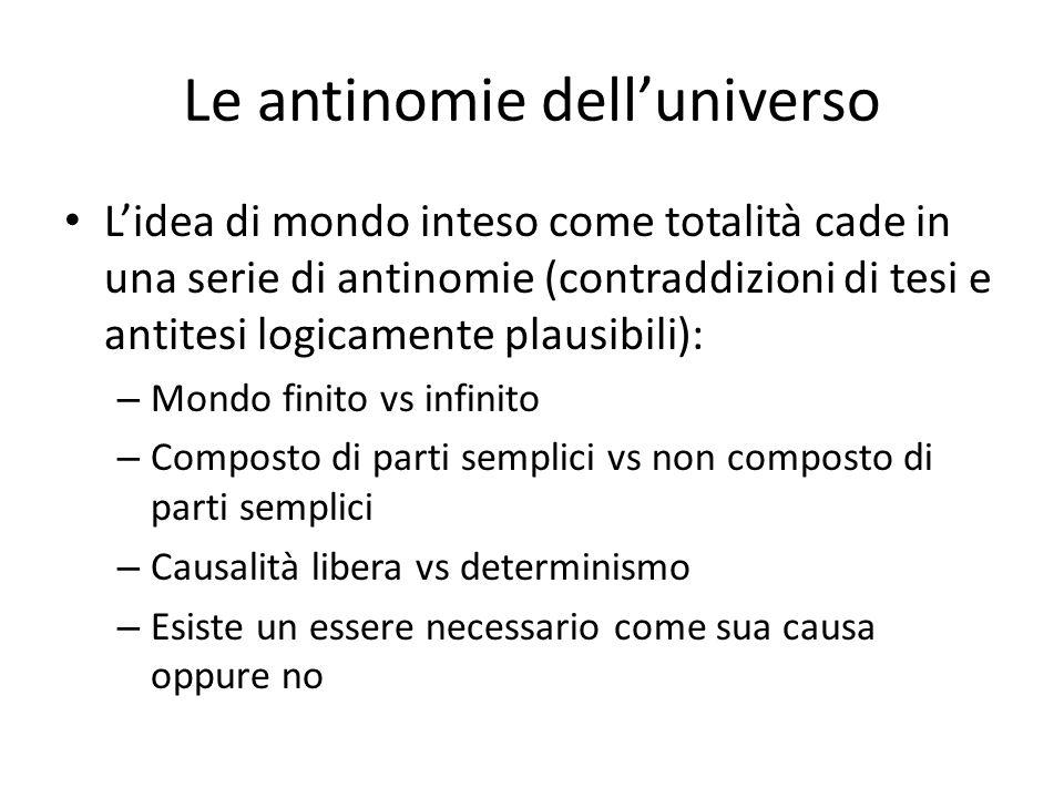 Le antinomie dell'universo