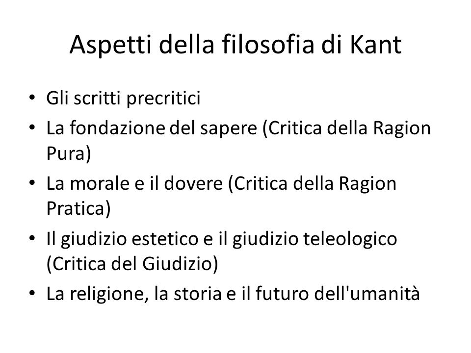 Aspetti della filosofia di Kant