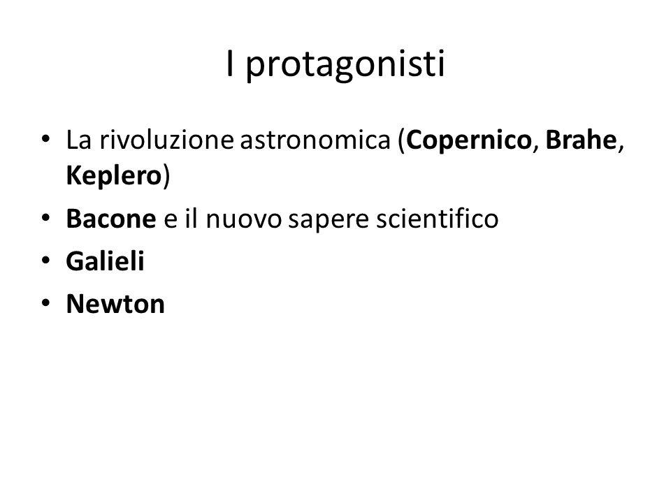 I protagonisti La rivoluzione astronomica (Copernico, Brahe, Keplero)