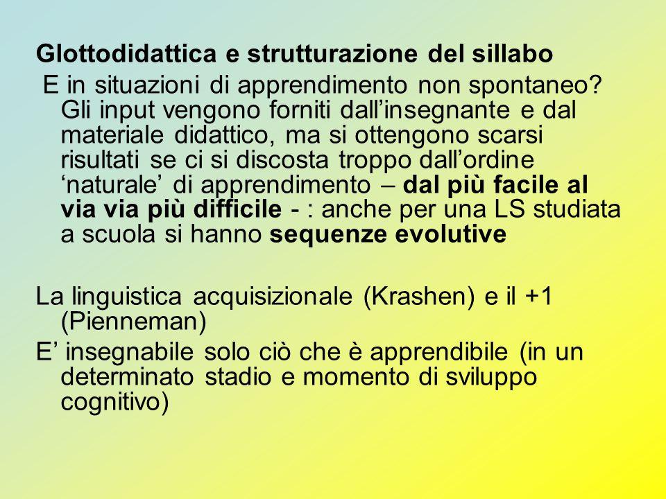 Glottodidattica e strutturazione del sillabo