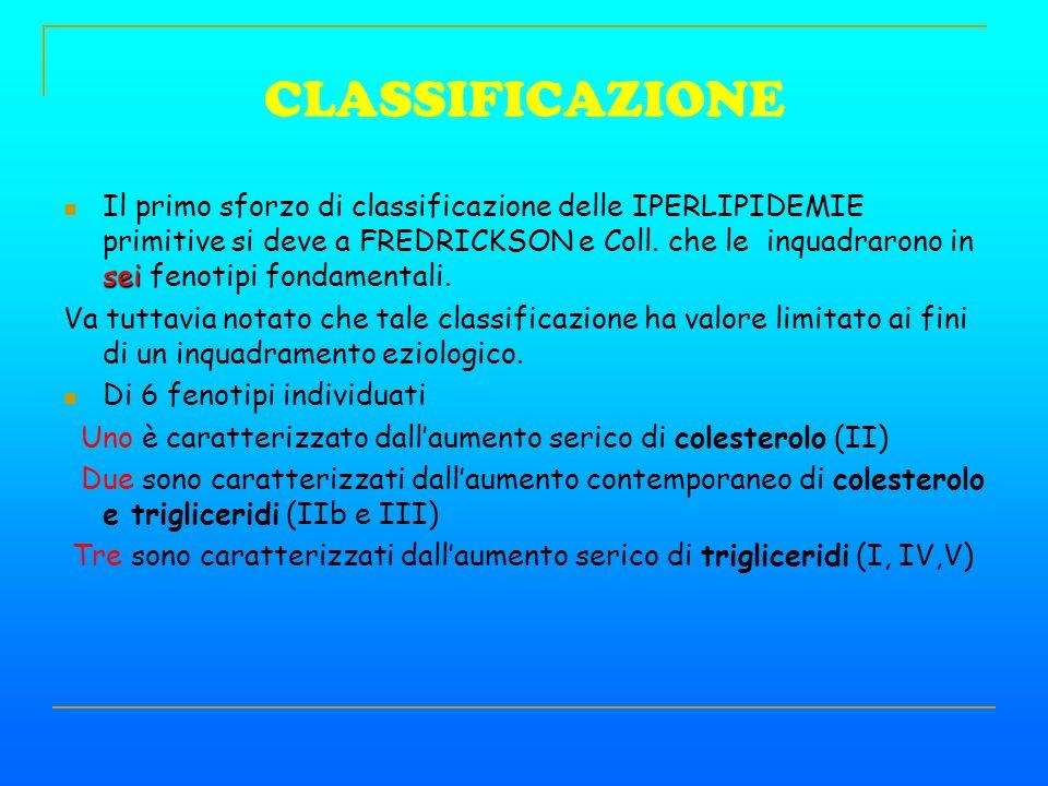 CLASSIFICAZIONE