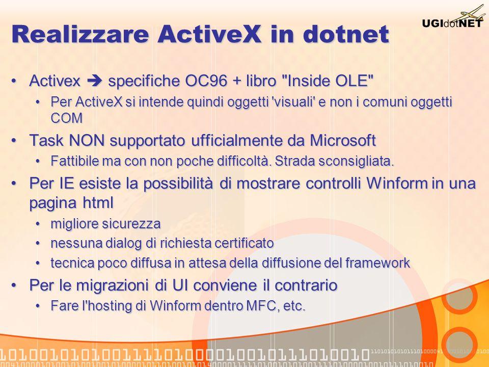 Realizzare ActiveX in dotnet