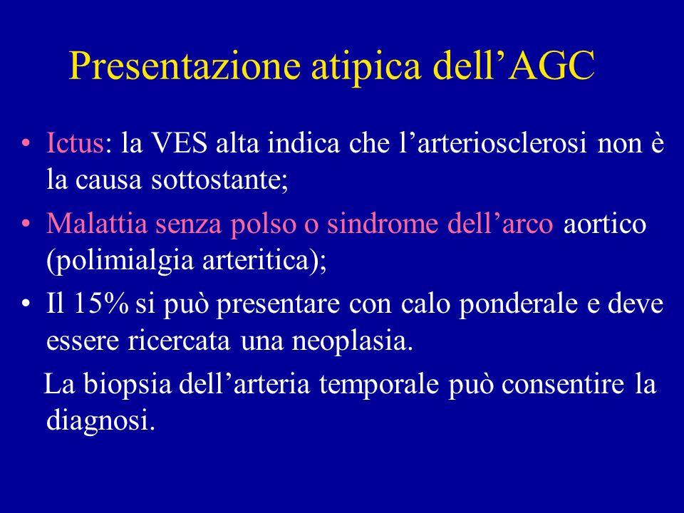 Presentazione atipica dell'AGC