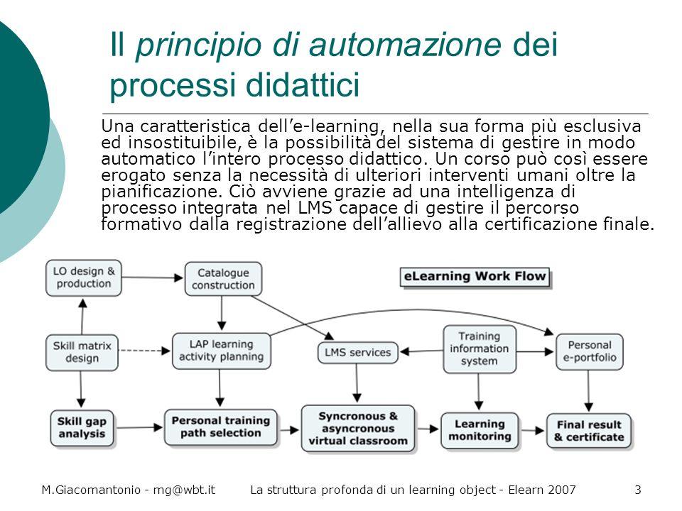 Il principio di automazione dei processi didattici